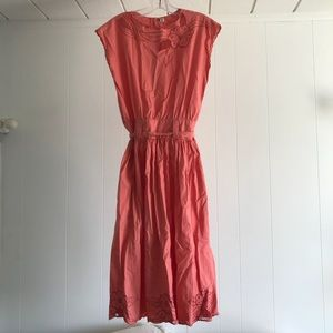 Vintage Salmon Pink Summer dress